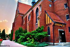 WODZISLAW SLASKI-POLAND-07 (Elisabeth Gaj) Tags: travel building church architecture europa poland polska polen chutch elisabethgaj