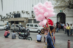 Cotton Candy Seller (Shubh M Singh) Tags: street new india place candy circus delhi cotton gr ricoh seller connaught