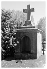 Cimetire de Thourotte - Oise (DavidB1977) Tags: bw france 35mm nikon trix nb f2 ais croix picardie tombe cimetire oise d7100 thourotte