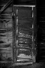 Shut the front door (Marc Briggs) Tags: door bw abandoned broken monochrome decay abandonedfarm abondonedbuilding abandonedcabin dsc33181acw