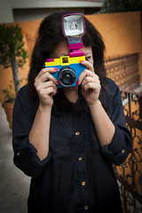 Diana Lomo (Mittchel Alcantara) Tags: life camera colors girl analog canon vintage mediumformat mexico lomo mexicocity flash retro diana dianaf cdmx 1dmkiii