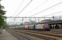 20160519 LTE 189 206 + graantrein, Apeldoorn (Bert Hollander) Tags: blauw cargo type loc vangogh trein apeldoorn oranje apd locomotief graan eloc lte br189 lten wagens wascosa ersr 189206 41321ijsmbh