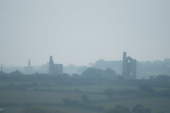 Stacks in the mist. (richardsolway) Tags: enginehouse mist landscape dusk cornwall mining