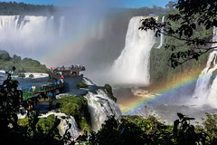 Rainbow Delight - Explore # 6 (*Capture the Moment*) Tags: trees brazil sun rainbow brasilien jungle waterfalls sonne bume regenbogen wetter iguacu landschaften urwald 2016 fozdeiguazu wasserflle sonynex7 sonye18200mmoss