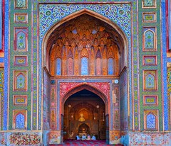 Heritage of Wazir Khan Mosque (Fortunes2011. Closure of 6 years) Tags: heritage wall architecture design pattern arch mosque lahore masjid intricate placeofworship tilework wazirkhan mehrab fortunes2011nikon