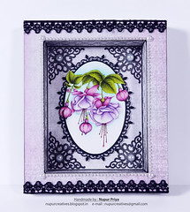 Cascading Fuchsia Shadow box_1 (Nupur Creatives) Tags: heartfelt creations heartfeltcreations