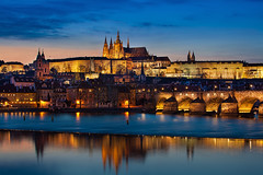 Historic Prague (TIM BRUENING  PHOTOGRAPHY) Tags: prague prag tschechien hradschin czechrepublic bluehour altstadt hradany historicdistrict langzeitbelichtung longtimeexposure blauestunde moldau pragerburg canon5dmarkii flickrtravelaward