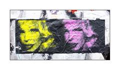 Graffiti (Mr.Fahrenheit), East London, England. (Joseph O'Malley64) Tags: uk greatbritain england streetart london pasteup wall graffiti screenprint britain wheatpaste popart british walls eastend eastlondon tissuepaper mrfahrenheit