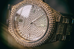 #Time #MacroMonday (cuppyuppycake) Tags: white macro closeup silver gold michael shiny hand time crystal watch hour wrist seconds minute kors macromonday