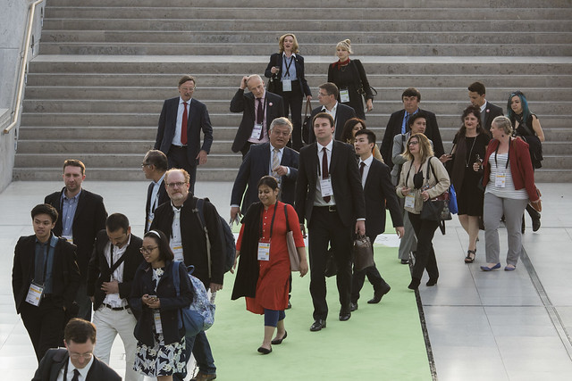 Attendees on their way to the ITF 2016 Gala Dinner