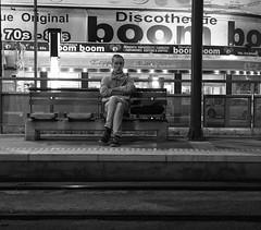 Solitary man... (klentosharry) Tags: people man night blackwhite olympus solitary olympusomdem10