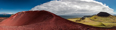 Iceland (SpechtPhotodesign) Tags: red panorama mountain clouds landscape island lava iceland view hill crater vista landschaft 1973 eruption vestmannaeyjar magma ausblick blackstone heimaey vulkan krater ausbruch westmnnerinseln landschaftsfotograf frankenfotografcom