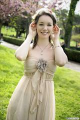 deni_DSC7153modfirma (manuele_pagani) Tags: pink portrait green smile spring blossom outdoor denise eur ritratto hanami laghetto esterna
