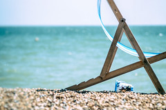 They couldn't wait to run away ... (Howard Sandford) Tags: sea leave beach bucket brighton europe deckchair eu pebbles gone runaway bluesea brexit