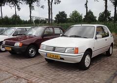 Peugeot 205 GL 27-9-1983 KF-61-PF & XR Lacoste 22-3-1985 LZ-14-NR (Fuego 81) Tags: 1983 1985 lacoste peugeot 205 gl onk kf61pf sidecode4 lz14nr