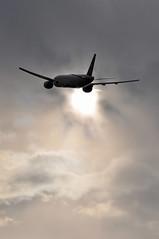 SV0118 LHR-RUH (A380spotter) Tags: takeoff departure climb climbout silhouette boeing 777 200er hzakg  saudia  saudiarabian sva sv sv0118 lhrruh runway27l 27l london heathrow egll lhr