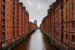 Speicherstadt (Krzysztof D.) Tags: architecture architektura hamburg deutschland germany niemcy red brick czerwona cega shiftn hdr