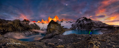 Magic Kingdom (Yan L Photography) Tags: chile people patagonia lake mountains argentina sunrise fitzroy torresdelpaine