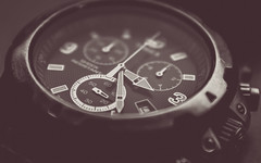 HMM - time-7843 (EbE_inspiration) Tags: blackandwhite black macro monochrome time watch timex