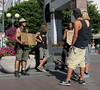 alcohol research (D G H) Tags: daveheston downtown seattle sidewalk street park people panhandler begger city urban sign skateboard streetphotography candid summer dgh