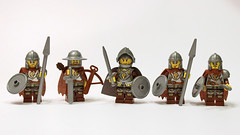 How 'Bout Them Lions? (11inthewoods) Tags: castle lego knights lions minifigs custom pauldron kreo figbarf