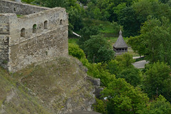 bastion and temple (intui.pro) Tags: old plant building tower history tourism stone museum architecture landscape town ruins outdoor stones citadel stonework text towers reserve ukraine temples walls bastion stronghold fortress palaces fastness strengthening kamianetspodilskyi