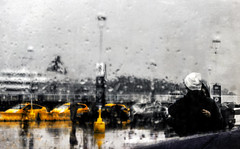 If it takes forever (N Medd) Tags: ocean travel sea vacation people abstract blur rain yellow ferry marina pier waiting day ship taxi meeting terminal rainy farewell impressionism passenger goodbye arrival traveling departure colorsplash photoimpressionism