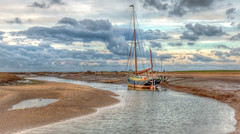 Moored - 3 (+Pattycake+) Tags: uk sea sky water clouds creek landscape evening norfolk peaceful coastal northsea barge eastcoast blakeney evenig efs1022mm morston northnorfolk canoneos70d