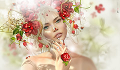 Swee Ldy B!  (AyE  I'  voT) Tags: digitalart digitalpainting digitalfantasy painting artworks portraits beauty illustrations artportrait ritratto retrato portrature dreamy vision magical emotionalart emotional romantic astraliacreations thxalotdearvanleen catwa ladybug coccinelle mimariquita