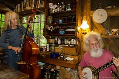 A Day In The Washington Woods (Noble Silence) Tags: music usa rustic banjo washingtonstate jamsession doublebass washingtonwoods