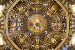 Kaleidoscope (Arne Dielis) Tags: city travel church architecture germany cathedral dom interior sony symmetry fisheye aachen cupola dome alpha aken aachenerdom captureone sonyemount fe16mmf35 ilcea7m2 sel28f20 alpha7markii sel057fec fe28mmf20
