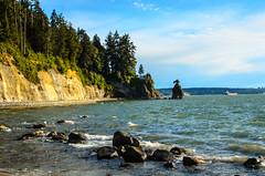 Seawall North (DaveK79) Tags: ocean cliff color water rock vancouver 35mm outdoors nikon waves pacific wind seawall siwash