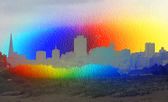 "SF for Orlando (""Cisco Kid"") Tags: gay abstract color texture love photoshop for orlando memorial san francisco no pride rifles assault guns"