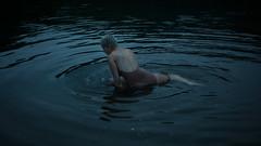 morning bath (laura zalenga) Tags: water river morning early body girl woman dark darkness reflection skin back selfportrait laurazalenga blue real melancholy