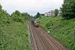 66170 approaches Huncoat (Strategic Reserve Films - Rory Lushman) Tags: belmont yingying class66 ews dbcargo huncoat 66170 dbschenker killoch