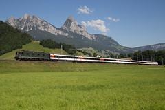 SBB Cargo Re 6/6 11663 Eglisau mit Extrazug bei Steinen (eisenbahnfans.ch) Tags: 11663 225m 30070 460098 512t chsbb sr61 apm61 bav eglisau extrazug gottardo2016 lesalondeluxe mythen oft re460 re66 re620 sbbcargo sbbcffffs steinen stn trainspécial trenospeciale