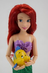 2016 Ariel Classic 12'' Doll - US Disney Store Purchase - Deboxed - Standing - Holding Flounder - Midrange Front View (drj1828) Tags: disneystore doll 12inch classicprincessdollcollection 2016 ariel purchase deboxed standing flounder