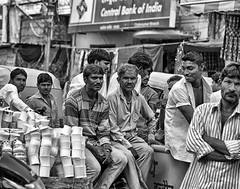"""Mug"" Shots (AJ Photographic Art) Tags: street travel people blackandwhite bw india men mugs asia posing cups indore mugshots facialexpressions"