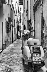 Italian Vintage (mcalma68) Tags: italy white black monochrome field vintage mono vespa scooter retro motorcycle sicily authentic dept