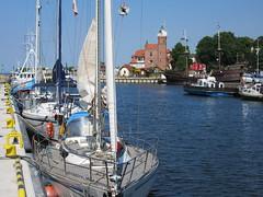 Marine scene (navarrodave80) Tags: yacht yachts blue water lighthouse boats sunny startofsummer ustka poland canon dave chmiel