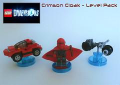 Crimson Cloak - LEGO Dimensions: Level Pack (jgg3210) Tags: crimson lego pack level cycle micro videogame cloak build cruiser dimensions loh minifigure miniset minikit leagueofheroes