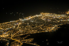 Barcelona aerial at night (gc232) Tags: barcelona from above city travel sky streets familia night plane canon airplane town fly flying high airport europe view live altitude bcn flight cities catalonia aerial deck barceloneta airline catalunya roads sagrada pilot catalan airliner barcelone highiso 6d drone iso8000 golfcharlie232