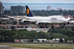 Lufthansa Boeing 747-400 D-ABVT (atcogl - ATC @ YYZ) Tags: toronto ontario canada plane aircraft aviation jet aeroplane lh boeing heavy flugzeug lufthansa 747 airliner dlh jumbo avion pearson yyz 747400 widebody staralliance b744 cyyz