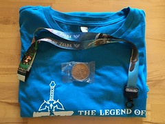 Zelda Breath of the Wild E3 2016 T-Shirt, lanyard and coin (ManDon5) Tags: wild breath nintendo mario zelda e3 limited rare miyamoto signed autographed