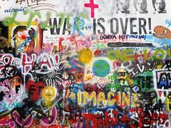 Lennonova ze (bernarou) Tags: street streetart streets art wall john graffiti europa europe republic czech prague central praha praga beatles lennon bohemia repblica checa republika the czechia prask praze esk ze lennonova