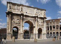 Ancient Rome. The Arch of Constantine, Roman Forum, early IV century AD (mike catalonian) Tags: arch ad constantine marble emperor ancientrome romanarchitecture ivcenturyad