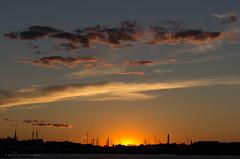 Sunset from the Hyatt Regency Boston Harbor (alohadave) Tags: sunset sky water boston skyline harbor unitedstates massachusetts places northamerica eastboston partlycloudy bostonharbor hyattharborside pentaxk5 smcpda60250mmf4edifsdm hyattregencybostonharbor
