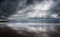 Wet sand and clouds (alf.branch) Tags: sea seascape reflection beach water sunshine clouds seaside sand waves olympus zuiko irishsea wetsand stbees refelections westcumbria stbeesbeach olympusomdem5mkii ziuko918mmf4056ed