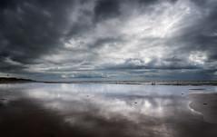 Wet sand and clouds (alf.branch) Tags: sea seascape reflection beach water sunshine clouds seaside sand waves olympus zuiko irishsea wetsand stbees refelections westcumbria stbeesbeach olympusomdem5mkii ziuko918mmf4056ed