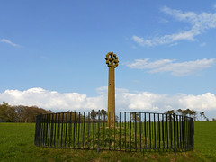 Merkland Cross:  A carved 15th century cross located at Woodhouse Farm, 1 m north of Kirkpatrick Fleming on the B7076.  See attached photo for more details (penlea1954) Tags: uk century scotland carved cross farm historic 15th woodhouse dumfries galloway fleming kirkpatrick dumfriesshire merkland b7076